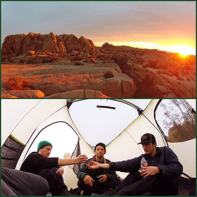 #Sunrise and #TentVibes in #JoshuaTree . Gonna be a good Friday. #GetOutside