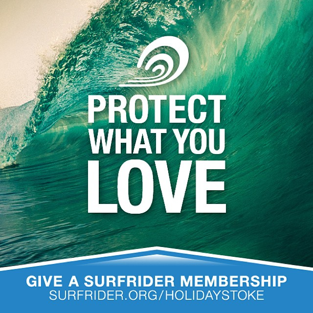 The Northern Hemisphere has been gifting is currently spreading the holiday cheers with swell for days. Let's protect what we love and give gifts that matter! #Surfrider #12DaysofStoke