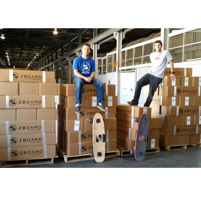 Busy day at the #ZBoard Shop!