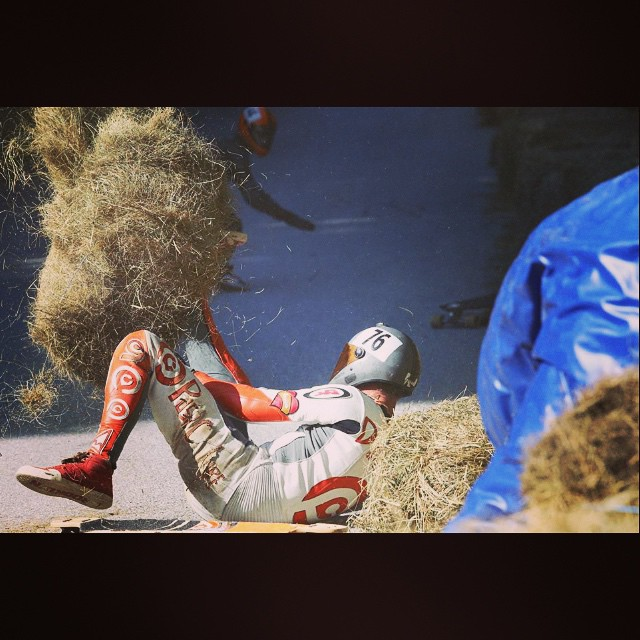 #DHTHROWDOWN in Killington VT will be a IDF WCQ in 2015, the new FB event page is up! Check it out. This is me (travis) with a hay bail stuck on my leg in the fast left after the straight where we clocked 65mph!!!!!
