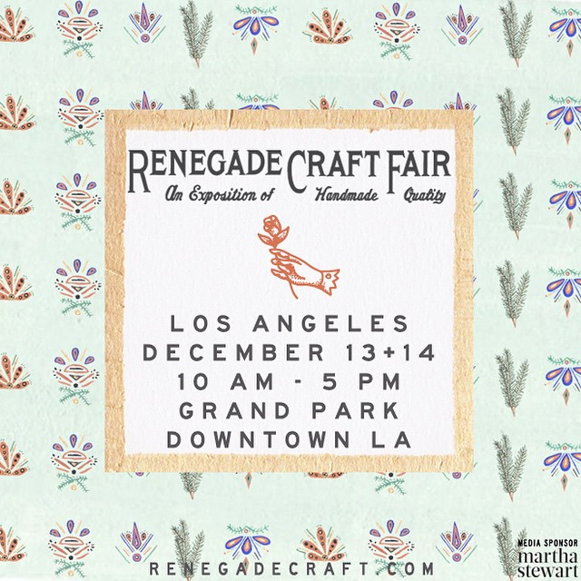 Looking forward to #RenegadeLA! We'll be at booth 57 all weekend. #renegadecraftfair #ecofashion #ethicalfashion