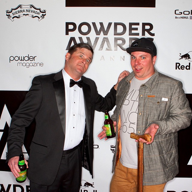 When it is this rad, what do you do // @k2_skis marketing genius and @powdermagazine #PVA15 host Mike Powell and #highfivesfounder Roy Tuscany always love to hang out