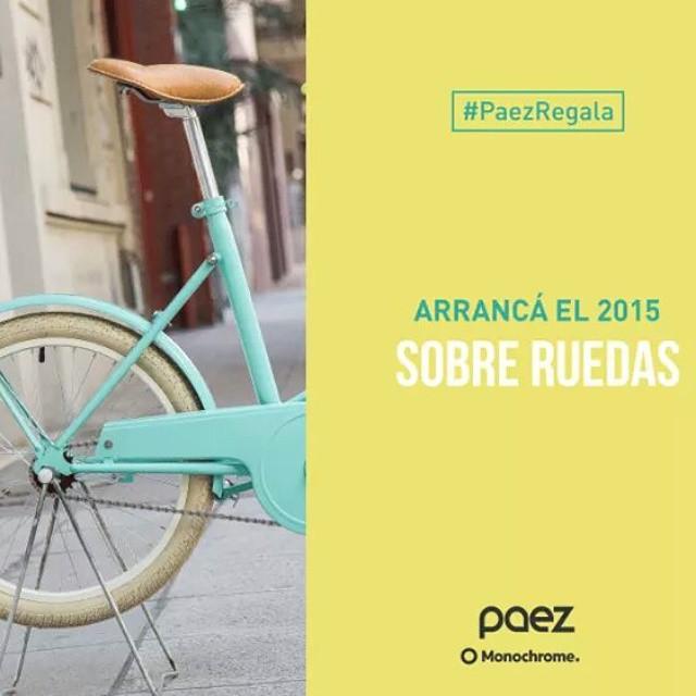 Anotate #yoteavise! customizamos con @monochromebikeshop un bici para vos! #PaezRegala