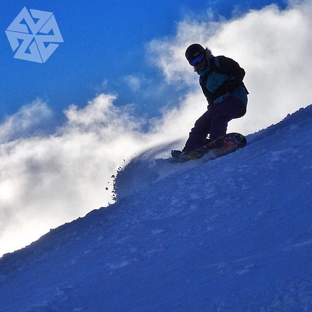 @kyehalpin rides the clouds in the @jacksonhole backcountry.  Snowboarding sets you free. #avalon7 #snowboarding #facemasks www.avalon7.co