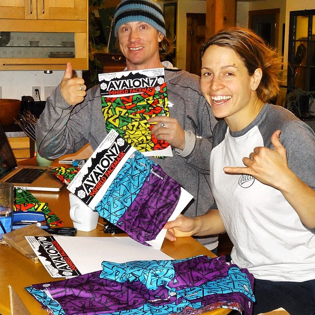 Snowboarder sweatshop in full effect with @irislazz  and @robkingwill trying to get all the new designs in stores in time for Christmas! My fingers are still bleeding. Get your favorite people something rad for their stockings this year from our online...