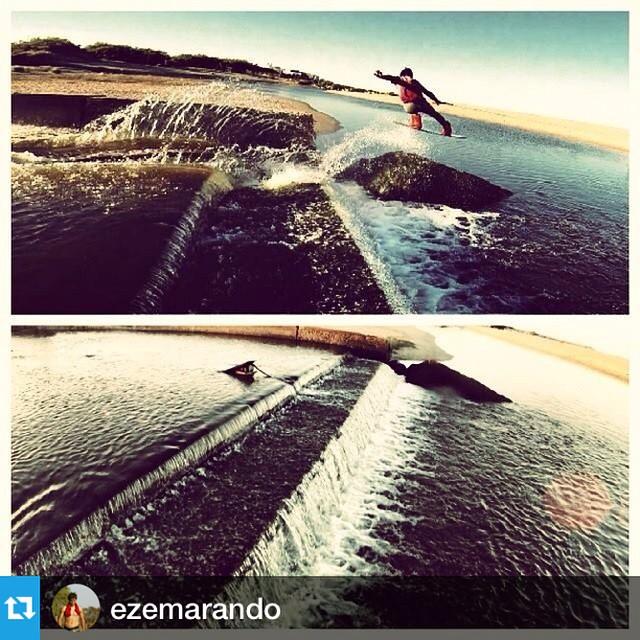 Eze Marando, uno de nuestro riders y del #acidwinchcrew haciendo un tremendo ollie en las costas argentinas!