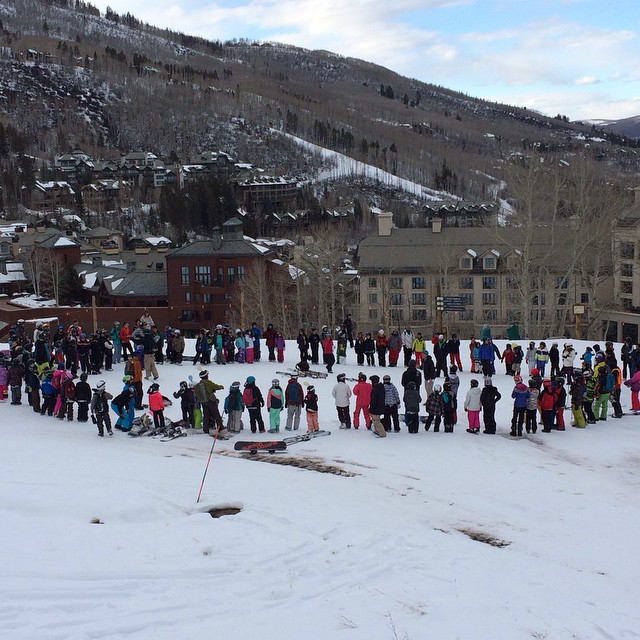 First @sosoutreach university on-hill days at @beavercreek, @keystone_resort, and @skinorthstar today. Over 325 youth were #skiing or #snowboarding with their Sherpas. What is your definition of courage for the circle of love? #inspireyouth