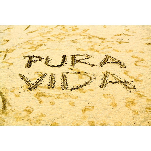 The motto here in Costa Rica, and it's not hard to see why once you've been here. Pure life!