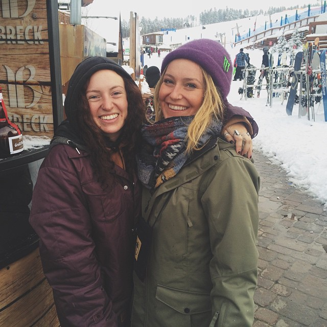 Our intern @rachellightner is out at @breckenridgemtn for the @dewtour, hanging out with the slopestyle champion @jamieanderson! #dewtour #coalitionsnow #breckenridge