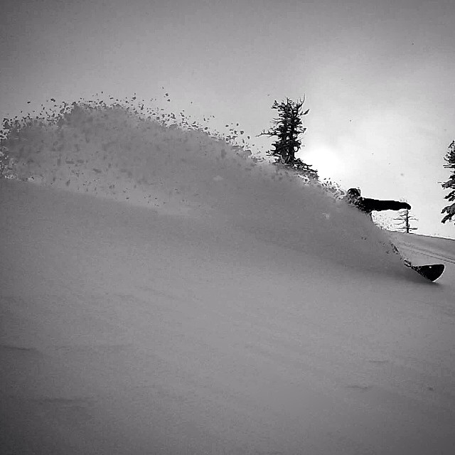 Tahoe picked up lots of snow and Flux marketing advisor, @bradfarmer ripped those fresh powder lines.