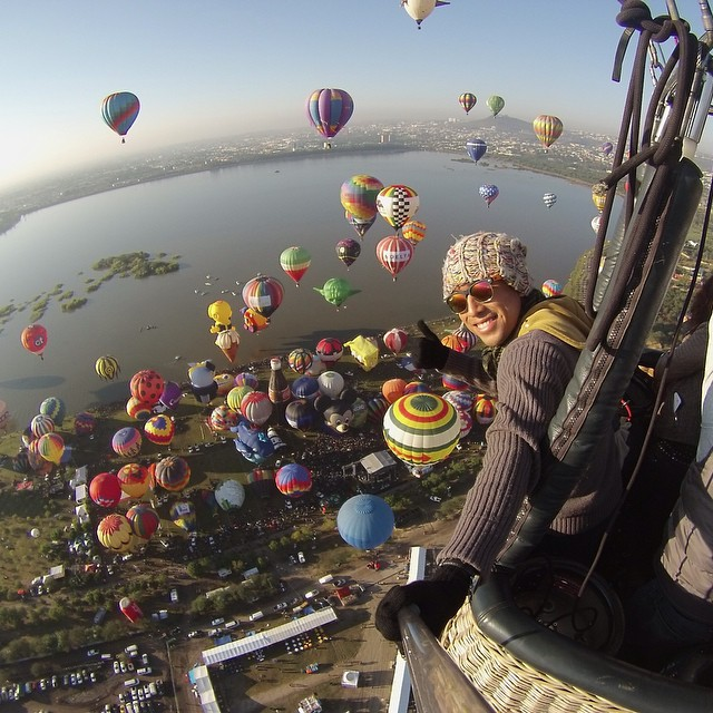 Photo of the Day! Up, Up and Away. @extremetravel floats above the International Balloon Festival in Leon, Mexico.