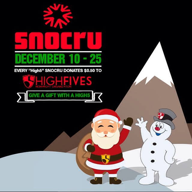 Give a gift with a 'high5' on the @snocru app!