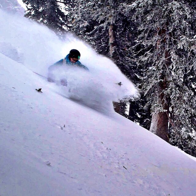 Whoosh! Panda athlete Jacqueline Knutson kicks up a Class 4C #PANDALANCHE at Alta some time ago... Repost from @jacquelineknutson  #PandaTribe #TribeUP!
