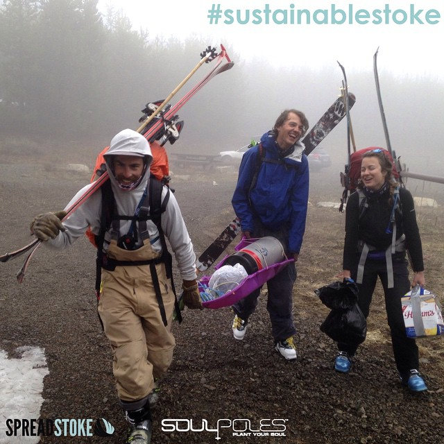 Embracing the idea of #sustainablestoke, @ripcitymomo, @y0ung_alex, and #KateBaustian made the effort to truck the libations for a multi-day hut trip deep into the Oregon wilderness without the use of a sled and with the deepest respect for the...