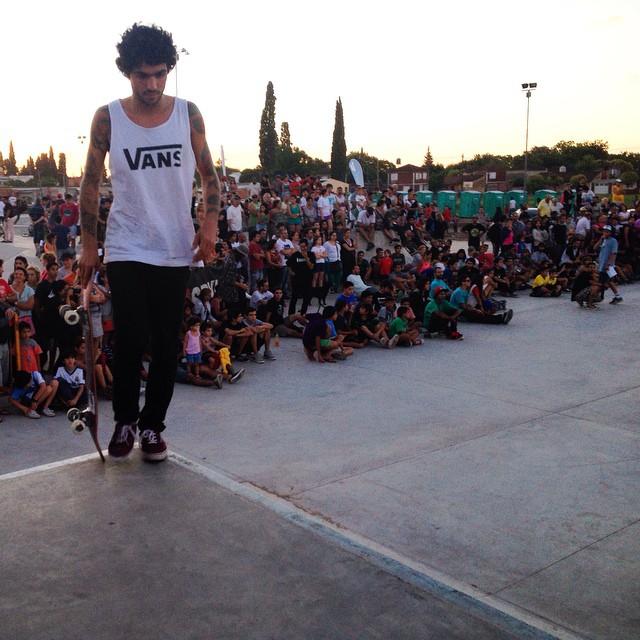 La bestia @dariomattarollo está de vuelta. Y prendió fuego el skate park de San Nicolás