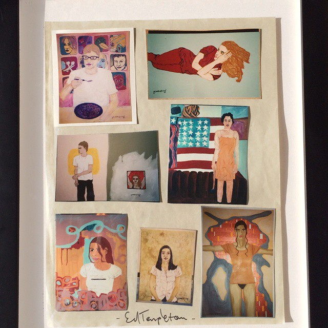 This Ed Templeton piece consists of 7 Original Polaroids that have text by the artist on the verso. It is signed using a black marker by the artist and is framed and floated using museum quality UV plexiglas by master framers at The Framing House...