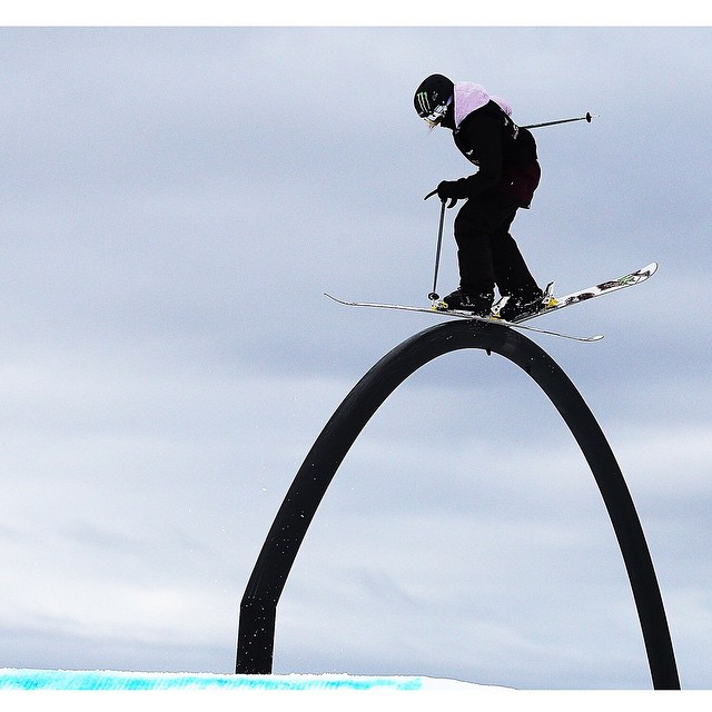 #XGames Ski Slopestyle silver medalist @maggie_voisin turned 16 years old today. (