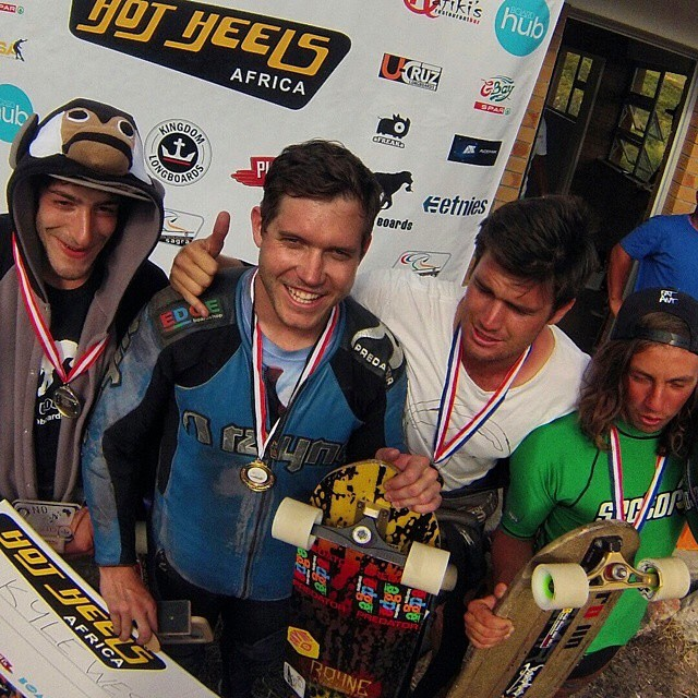 BOOM! @kylewesterskate taking home the win yesterday at the @idfracing #worldcup #hotheels2014 congrats dude! #southafrica #sagra #teampredator #downhill #racing