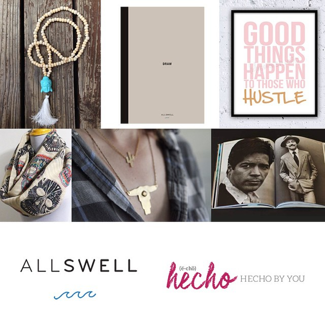 """My ideas usually come not at my desk writing but in the midst of living."" —Anais Nin  Good goods for grabs on new lifestyle site and AllSwell stockist Hecho by You, curated by #latina triple-threat @robynnmoreno. Check it: bit.ly/12lddIJ #hechobyyou..."