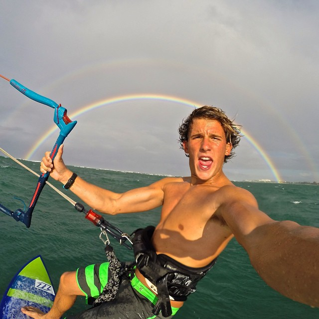 Photo of the Day! Danny Barnette kite surfs his way to the pot of gold in Puerto Rico.