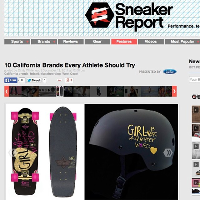 "Did you hear?? Our XS x GN4LW collab skate helmet is featured in the Sneaker Report with the @dusterscalifornia x #gn4lw as part if the article ""10 California Brands Every Athlete Should Try""! Link is in our bio"