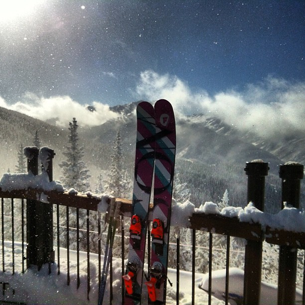 "With 14"" of fresh #powder @aspensnowmass it was time to break out the Gambits! Photo credit  @jenny_ryden_harris"