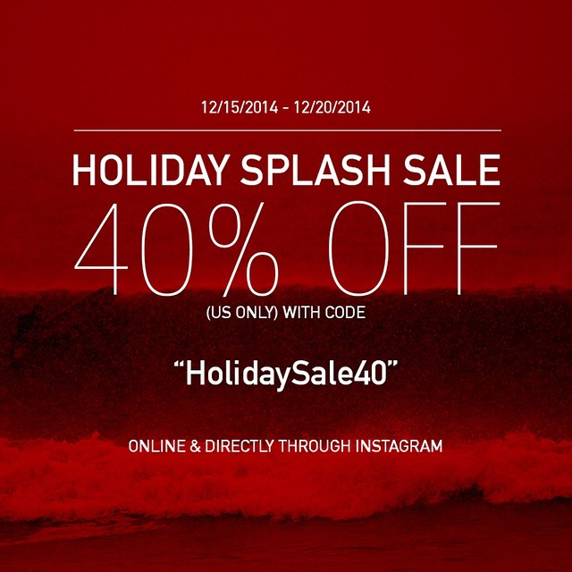 HOLIDAY SPLASH SALE!  Use code 'HolidaySale40' at checkout and receive 40% off, this week only. Plus, starting tomorrow you can begin ordering Surf Right products directly through Instagram just by commenting 'Sold' when we post an item you want. To be...
