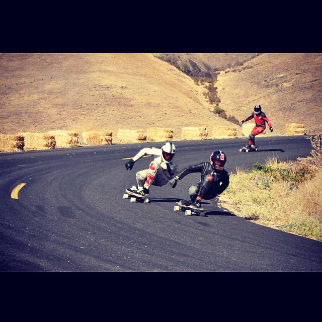Dual steez arms from team riders @snack_skates and @emmetwhite  At Maryhill during the Fall freeride. Photo by: @laine_pickell  #Longboarding #longboarder #maryhill #fallfreeride #grom #dblongboards #dbstalker #dblunchtray #aeratrucks #atlastruckco...