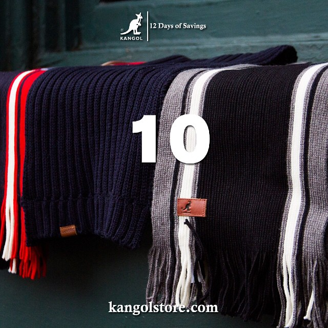 24 Hour Sale —Day 10: 15% Off Contemporary Kangol Scarves at http://kangolstore.com Discount Code: ksday10 #kangol12daysofsavings #kangol
