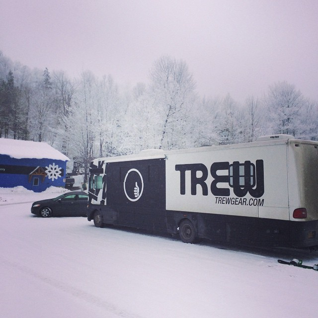 "They call Rewth the ""Bringer of Snow"" @sundayrivermoutainresort  #trewtour"