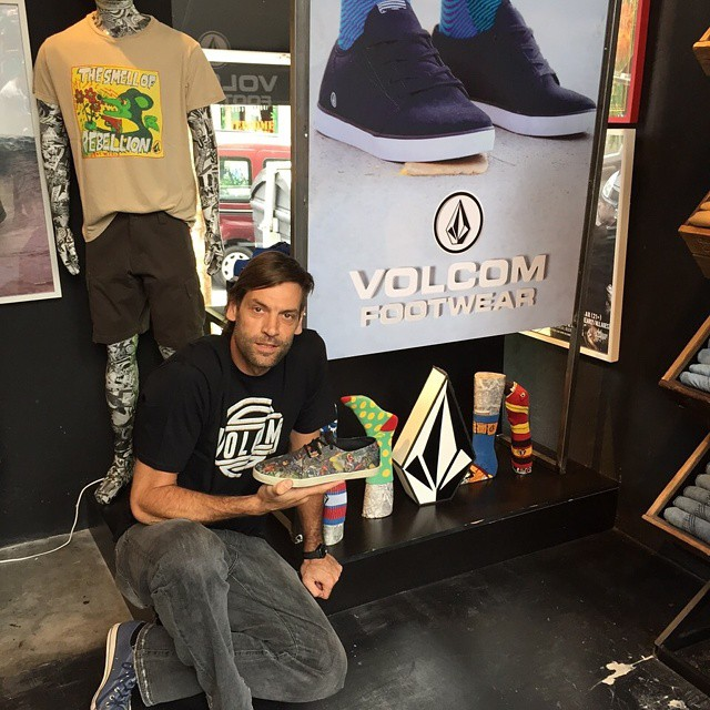 Un amigo in the House! Fabricio Oberto gracias por la visita !! PH: @publicopressgroup #Volcomfootwear #Volcom #TrueToThis