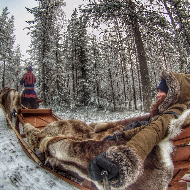 Photo of the Day! A perfect day for a sleigh ride in Finland. Photo by @sarka.pa.