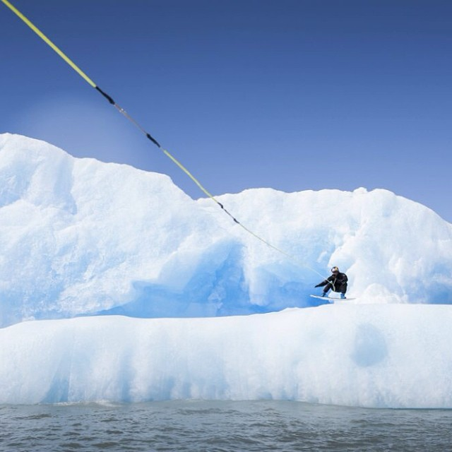 Iceberg wakeboarding. #givesyouwings