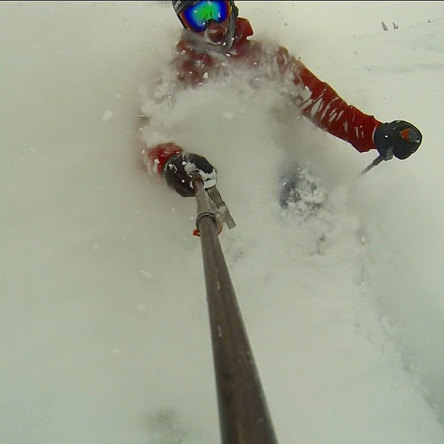 Just your typical Tuesday lunch break! #powskiing #beavercreek