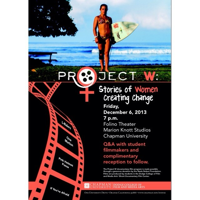 Save the date: Friday, December 6th at 7:00 p.m. in the Folino Theater at Dodge College for the second annual screening of Project W documentary films, one of which I worked on with a crew of talented filmmakers this semester.  Last year, Dodge College...