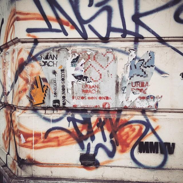 #urbanroach #old #posters #citydecay #walls #streetart #pasteup #pixelart #arteurbano