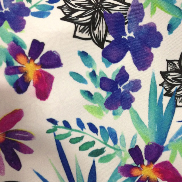 Odina #spring #2015 is blossoming featuring the #Kahlia print! @agendawms @swimcollective