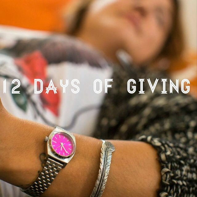 12 DAYS OF GIVING // Nixon  DAY 6: @nixon_now really outdid themselves this year when they unveiled the brand-spankin-new Nixon x B4BC pink-faced Small Time Teller, which is hands down the cutest little watch that ever was. But hands up, because we...