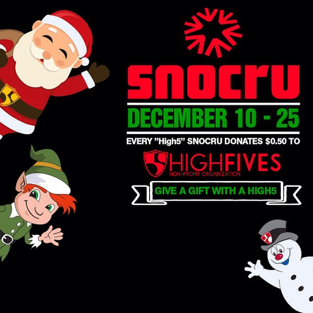 Download the @snocru app and 'high5' it all!!