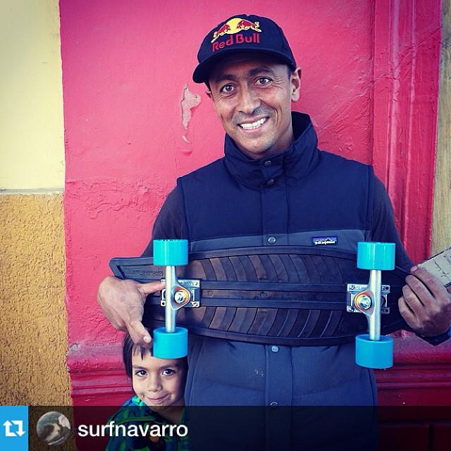 """Repost from @surfnavarro •・・""""Muchas gracias a @bureoskateboards por este tremendo regalo, son tablas de skate recicladas de redes de pesca y hoy las estarán lanzando en Chile junto a los amigos de @patagoniachile y @bowlpark. Muy buena onda #bureo"""