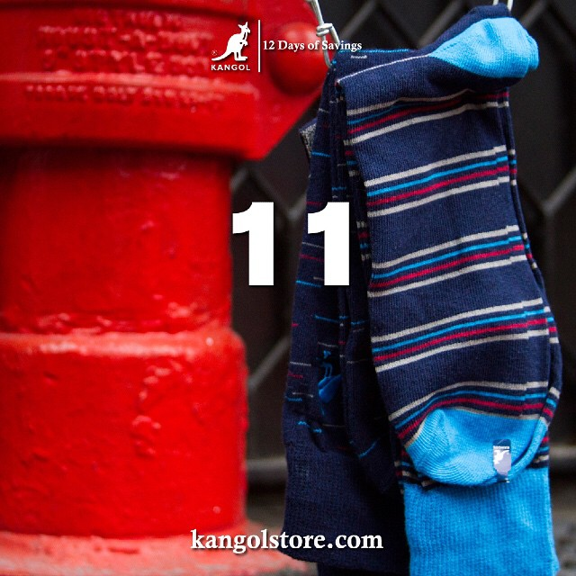 24 Hour Sale —Day 11:  20% Off Cozy Kangol Socks at http://kangolstore.com Discount Code: ksday11 #kangol12daysofsavings #kangol