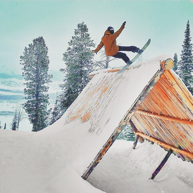 #AV7Renegade @jah_he getting blunted in the @jacksonhole Stash Park. How's your mountain shaping up? #avalon7 #snowboarding #liveactivated www.avalon7.co