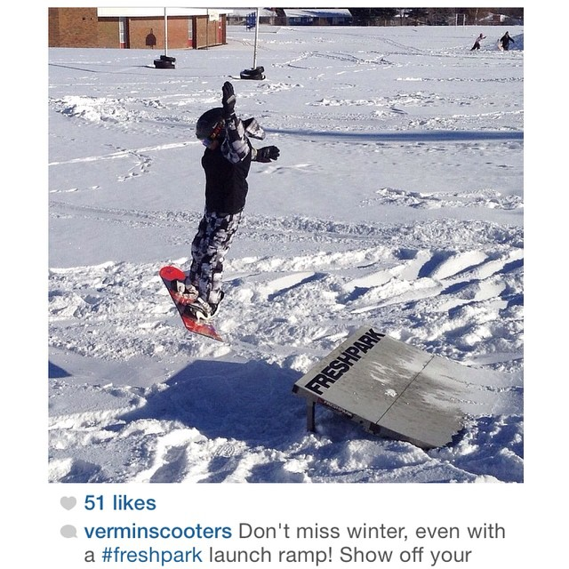 Another repost from @verminscooters ! #freshpark
