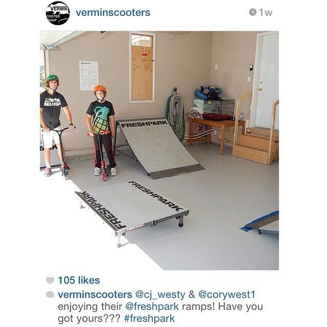 Repost! @verminscooters #freshpark