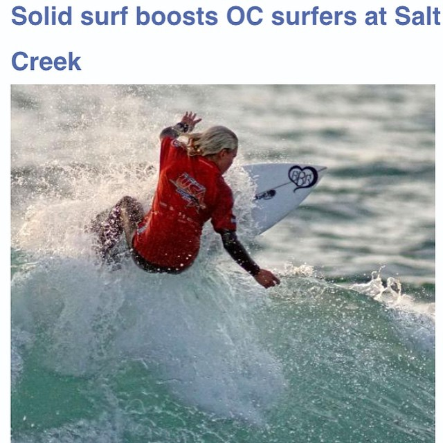 Thanks to the OC Register for capturing this great shot of Bethany Zelasko killing it at Salt Creek placing 1st in the event. @b_rosez @bbrsurf #bethanyzelasko #bbr #buccaneerboardriders #teamrider #saltcreek #winner #ocregister