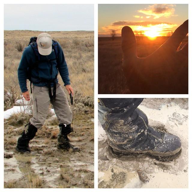 Snapshots from the prairie, by #ASCLandmark crew member Trent Banks (@nopioneer). Gumbo mud! #AmericanPrairieReserve