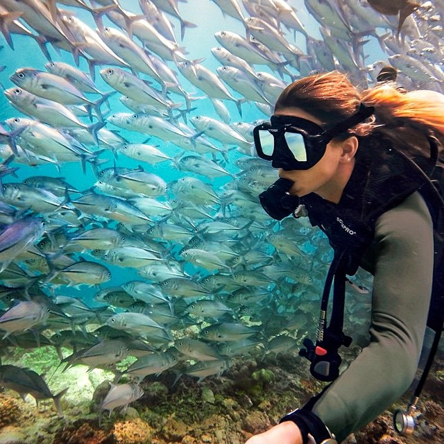 """Schools out"" • Awesome pic captured by @hayread #ThisIsMyBeach #LifesABeach #Kameleonz #GoPro #Hero4 #GoPole #GoMount #Scuba #ScubaDiving #Diving #School #Fish #Ocean #SchoolsOut"