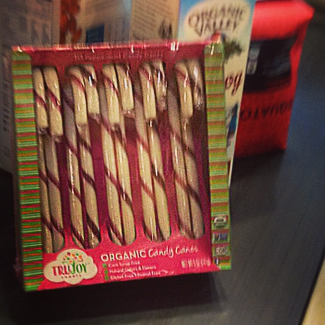 "Stocking up on eggnog today @wholefoodsmarket and was stoked to find Non-GMO, ""Organic Peppermint Candy Canes"" made by our buddies @SurfSweets. Do yourself a favor (and us too) by picking up a box this week before they're all gone, because all sales go..."