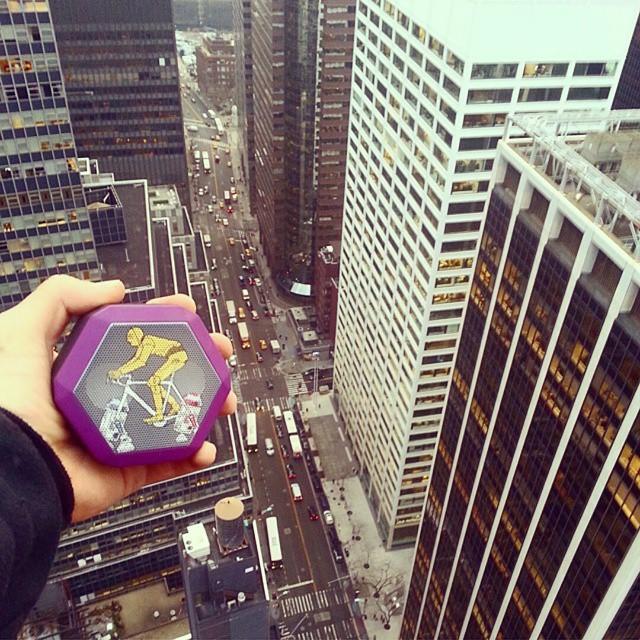 @tri_starrr overlooking #wallst with his custom #starwars inspired REX #NewYorkCity #C3PO #buildabot #boombotix