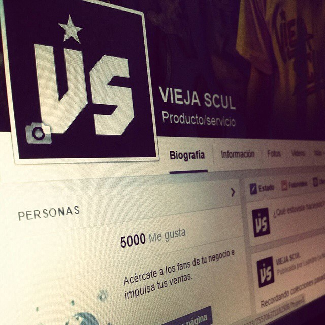 5000 followers #facebook #social #likes #tshirt #skateshop #ViejaScul